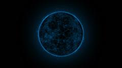 Solar cosmic sun blue Stock Footage