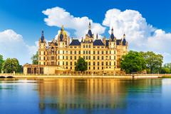 Ancient castle in Schwerin, Germany - stock photo