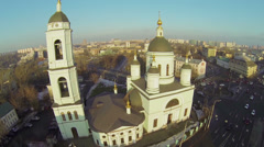 Temple of St. Sergey Radonezhsky in Rogozhskaya Sloboda Stock Footage