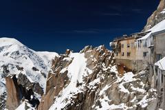 Building in Aiguille du Midi - Mont Blanc Stock Photos