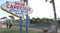 Rear of the Las Vegas Sign Stock Footage