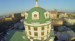 Cupola of St. Simeon temple against cityscape at sunny day Stock Footage