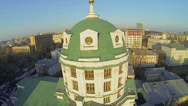 Stock Video Footage of Cupola of St. Simeon temple against cityscape at sunny day