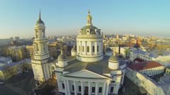 Cityscape with church of St. Martin the Confessor Stock Footage