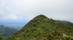 Pan, hiking, koolau mountantain ridge, honolulu, oahu, hawaii Stock Footage