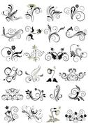 Stock Illustration of Collection flourishes patterns for design