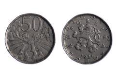 Czechoslovakia coins - stock photo