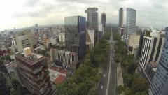 Paseo de la Reforma Mexico City 2 Stock Footage