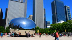 The Bean with Tilt Shift - stock footage