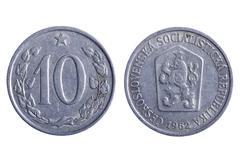 Czechoslovakia coins macro - stock photo