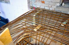 Armature, construction of staircase of house Stock Photos