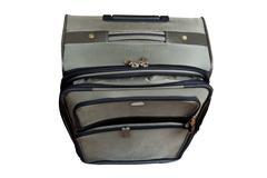 suitcase macro - stock photo