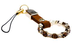 keychain with stones macro - stock photo