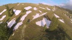 Mountain plateau in spring Stock Footage