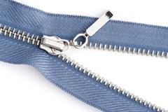 Sewing zipper close up Stock Photos