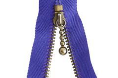 Sewing zipper macro Stock Photos