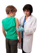 Child vaccination Stock Photos