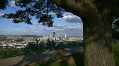 Pittsburgh Establishing Shot from West End Overlook - stock footage