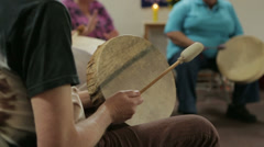 Old Man Drum Circle Stock Footage