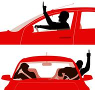 Road rage Stock Illustration