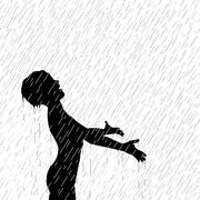 Rain boy Stock Illustration