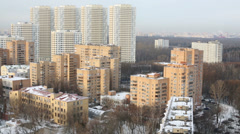 Residential Complex Elk Island. It consists of 7 buildings that have simple and Stock Footage