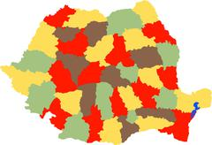 Stock Illustration of Romanian county
