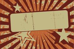Retro Grunge Background Banner - stock illustration