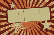 Retro Grunge Background Banner Stock Illustration