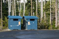 Public toilet in wilderness area Stock Photos