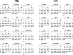 2012 -2013 calendar Stock Illustration