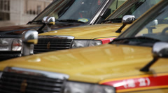Taxis at Tokyo station, Tokyo, Japan Stock Footage