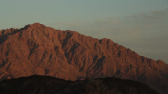 Timelapse of the sunset in the Sinai desert Stock Footage