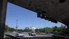 Berlin autobahn traffic, UHD 4K - stock footage
