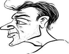 Man profile caricature Stock Illustration