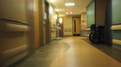 Hospital hallway blur Stock Footage