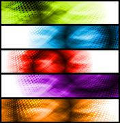 Vibrant abstract banners - stock illustration