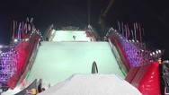 Stock Video Footage of Snowboarders at contest BGV 2013 Grand Prix De Russie