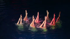 Legs of swimmers performing in Swimming Pool Stock Footage