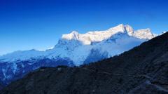 Timelapse sunrise in the mountains Kongde Ri (6187M), Himalayas, Nepal Stock Footage