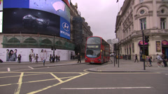 Double decker bus, Piccadilly Circus Stock Footage