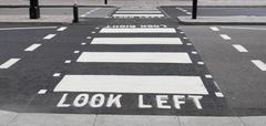 Look Left sign Stock Photos