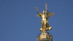 Angel on victory column, UHD 4K Stock Footage