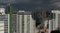View of the city. Shadows across buildings - Sao Paulo, Brazil. Time lapse HD Footage