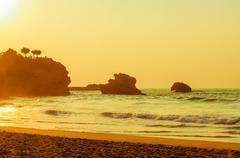 Biarritz beach - stock photo
