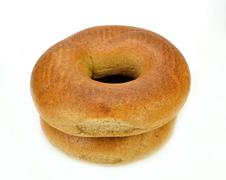 Whole wheat bagels Stock Photos