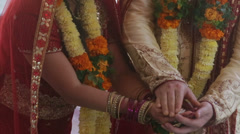 Indian wedding ceremony fire Stock Footage