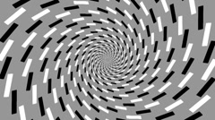 Optical illusion with rotating concentric circles 51 - stock footage