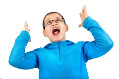 Scream and shout - stock photo