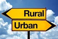 Rural or urban - stock photo